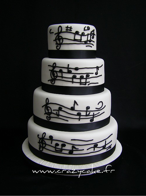 Cake Decorations Music Theme : Music themed wedding cake The clients wanted a music ...