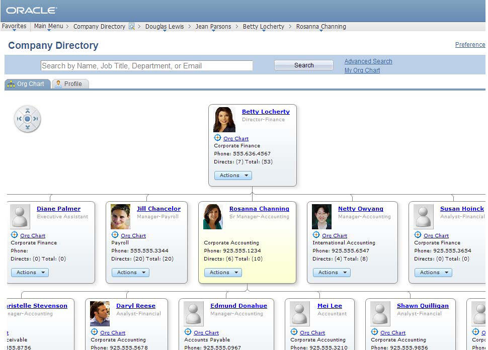 Corporate Organizational Chart: PeopleSoft HCM 9.1 On Demand Company Directory Org View | Flickr,Chart