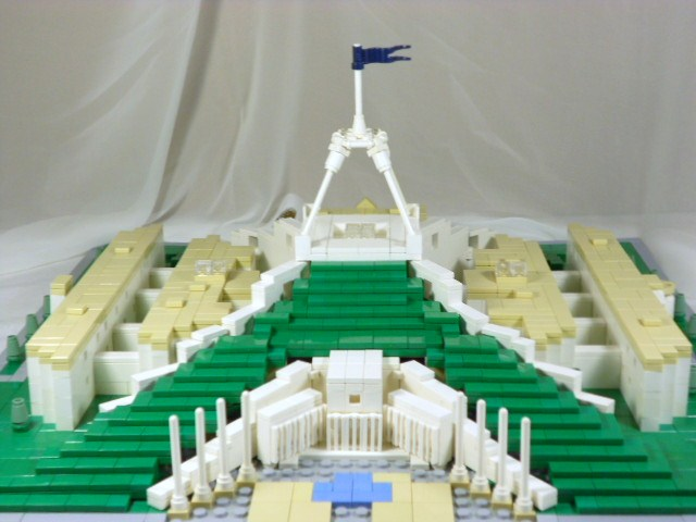 Parliament House Canberra This Is A Microscale Lego