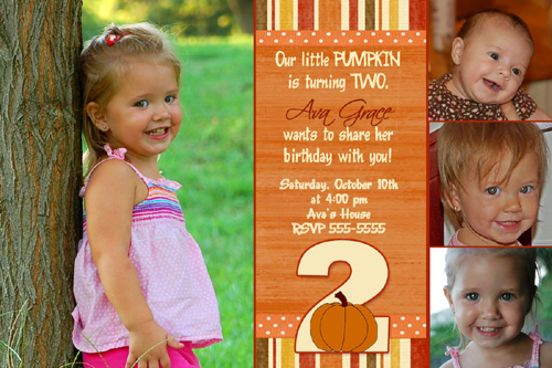 Little pumpkin 1st 2nd 3rd birthday invitation photo car flickr little pumpkin 1st 2nd 3rd birthday invitation photo card by poshnchicprints filmwisefo