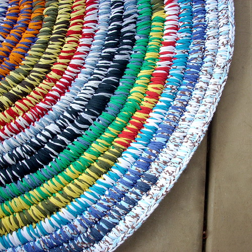 Coiled Rag Rug Instructions: This Rug Was Made Of Clean, Used