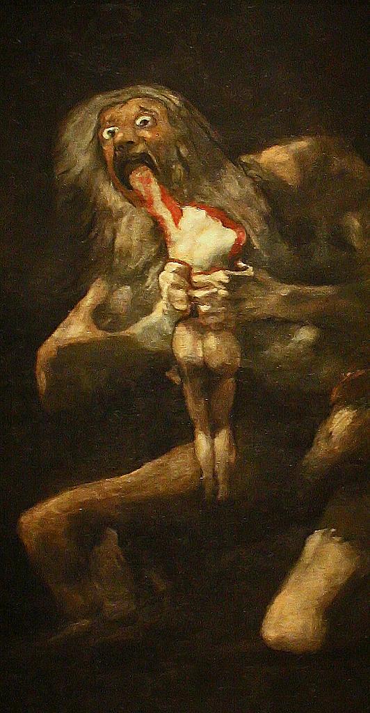 Goya Saturno Francisco De Goya Y Lucientes 1746 1828