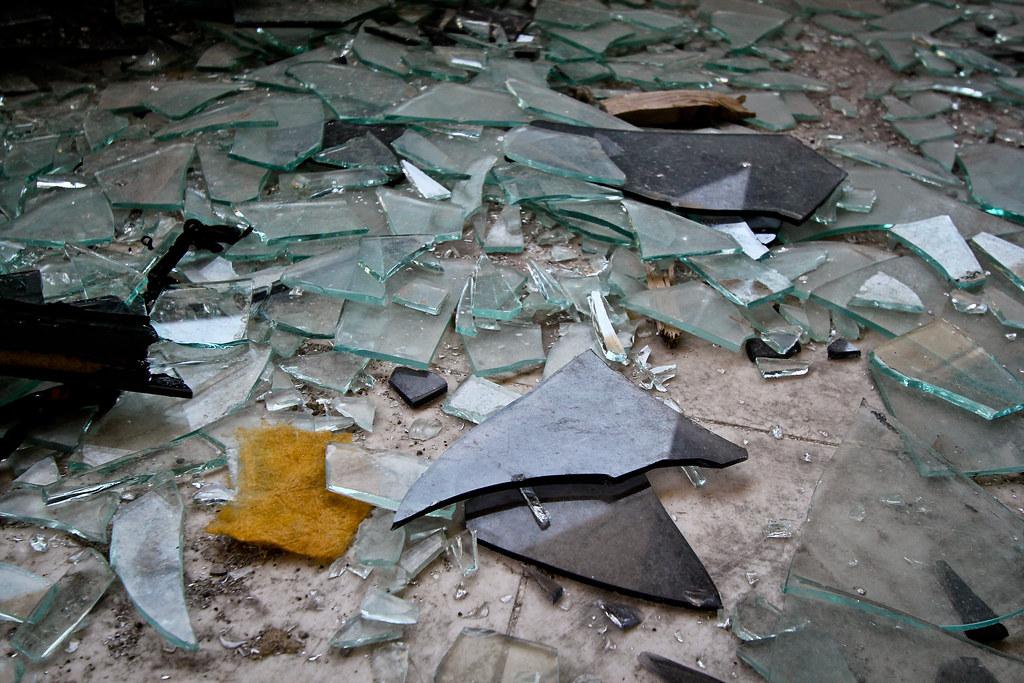 Broken Glass Shards | Photograph from a recent explore of ...