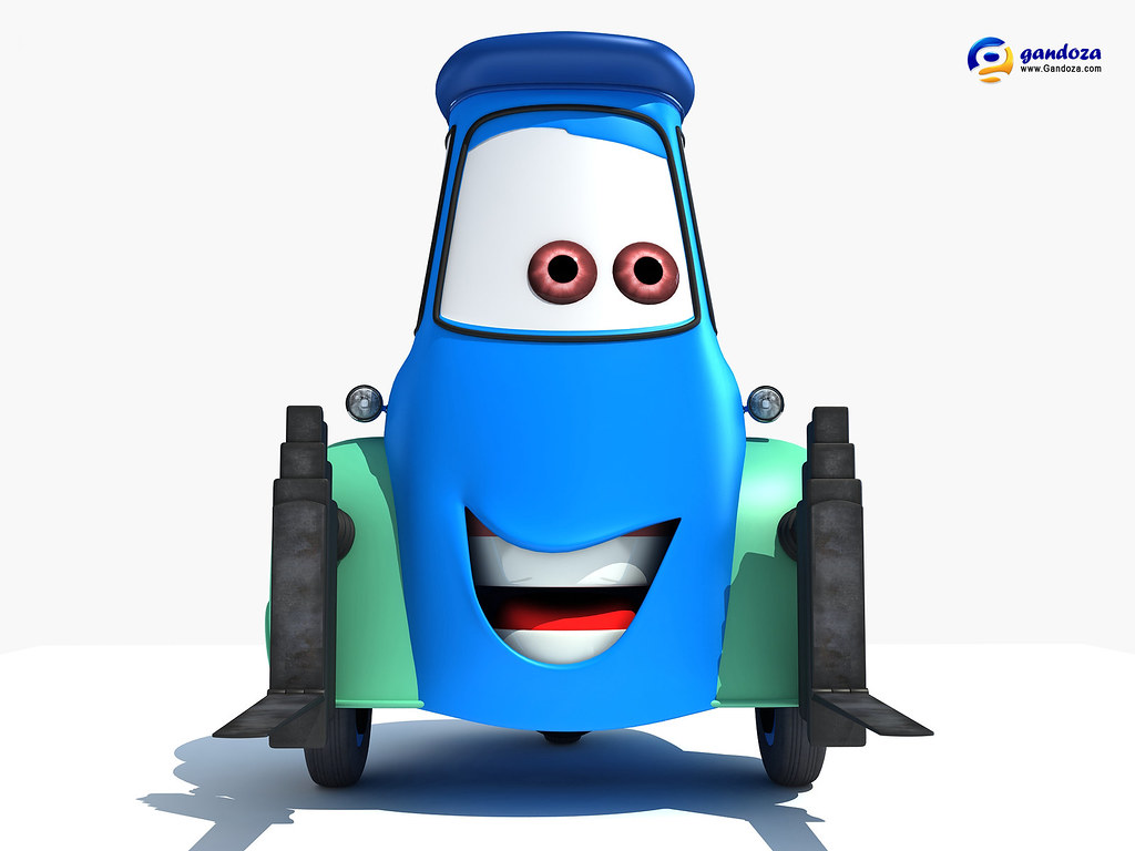 Disney Pixar Cars 2 - Guido | 3d model of Guido, one of ...
