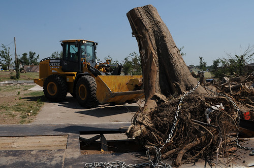 Clearing tree stumps after Joplin tornado | by Kansas City District