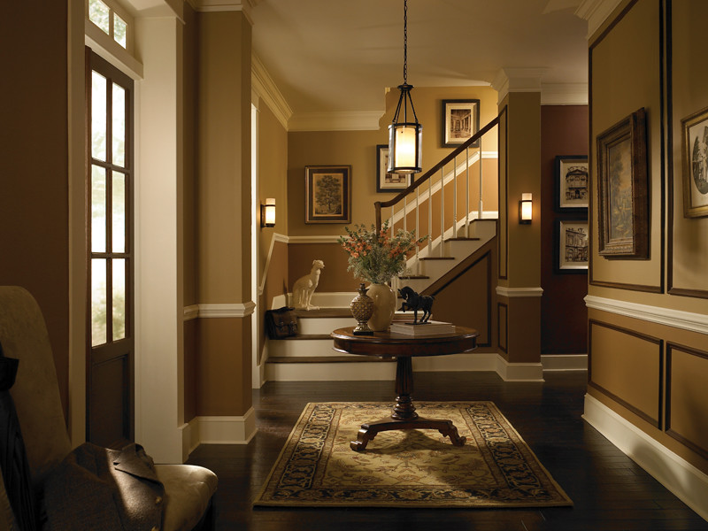 Traditional hallway upper walls spice cake ul130 6 lower flickr for Living room and hallway paint colors