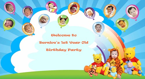 1st Birthday Banner With Photo Bernice 1st Birthday Banner