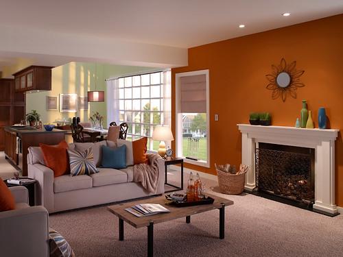 Casual Living Room | Fireplace Wall: Marmalade Glaze UL120 ... on Fireplace Casual Living id=96302