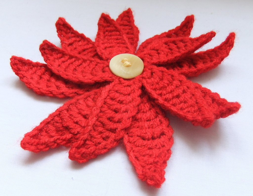 Poinsettia Crochet Pattern I This Is My Own Design And T Flickr