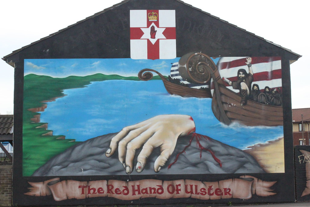 The red hand of ulster mural in west belfast northern ire for Mural ireland