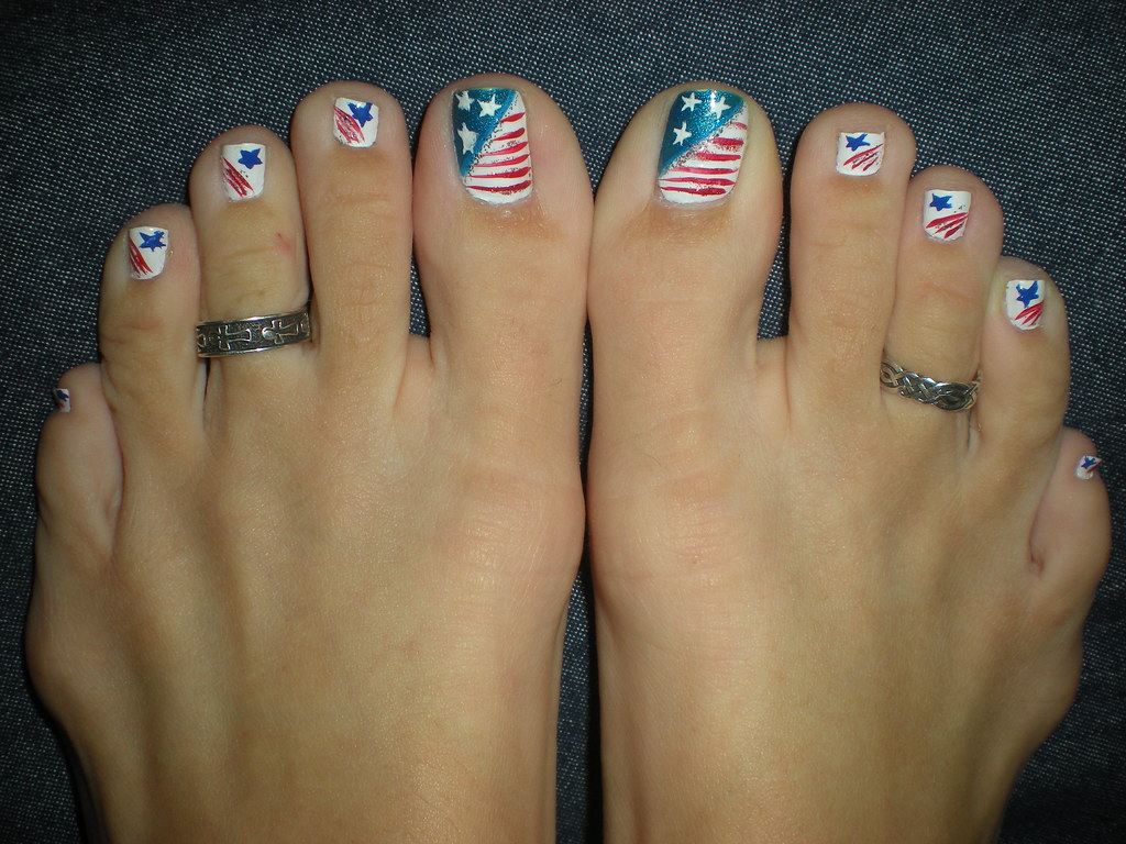 4th of July Toes | Design by NC Nails in Buies Creek, NC | Martha ...