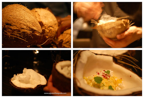 Coconut dessert at Grant Achatz Next Restaurant Chicago 9 in | by yumcat