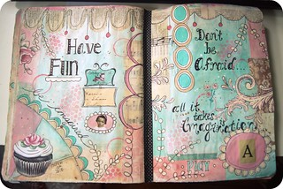 art journal pages ...in progress | by holiday_jenny
