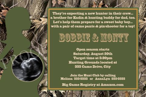 Realtree Camo Baby Shower Invitations for adorable invitations sample