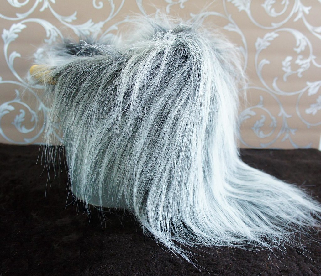 Silver Frosted Faux Fur Nest Photography Prop Rug Extra L