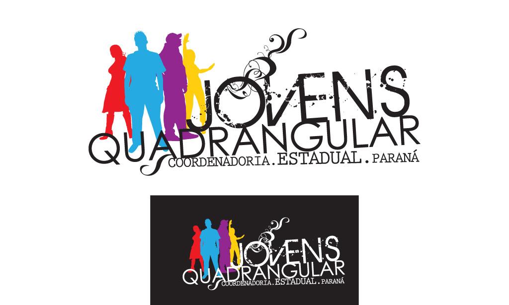 jovens quadrangular logotipo logotipo jovens