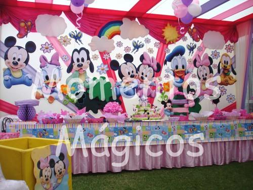 Decoracion mickey mouse minnie baby momentos magicos 3 - Decoracion fiestas bebes ...