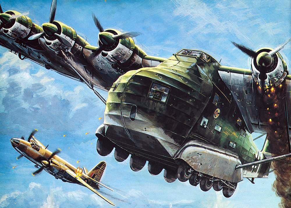 Messerschmitt me 323 gigant (giant) heavy transport image