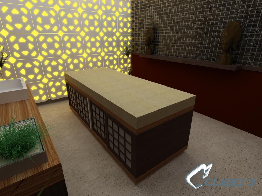 Dise o de spa interior cuarto masajes concepto de spa - Diseno salon ...