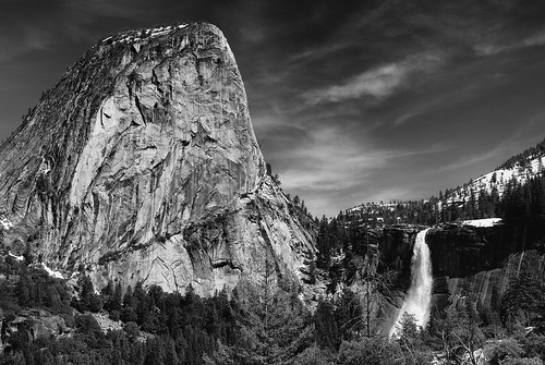 Nevada Falls in Black and White | by The Floh