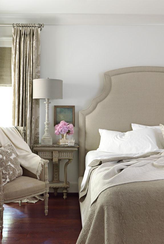 Traditional Gray Bedroom Benjamin Moore Revere Pewter