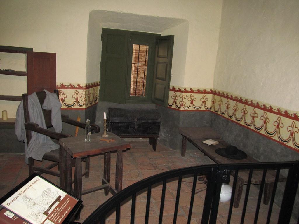 Padres' Bedroom, Mission San Juan Capistrano, San Juan Cap ...