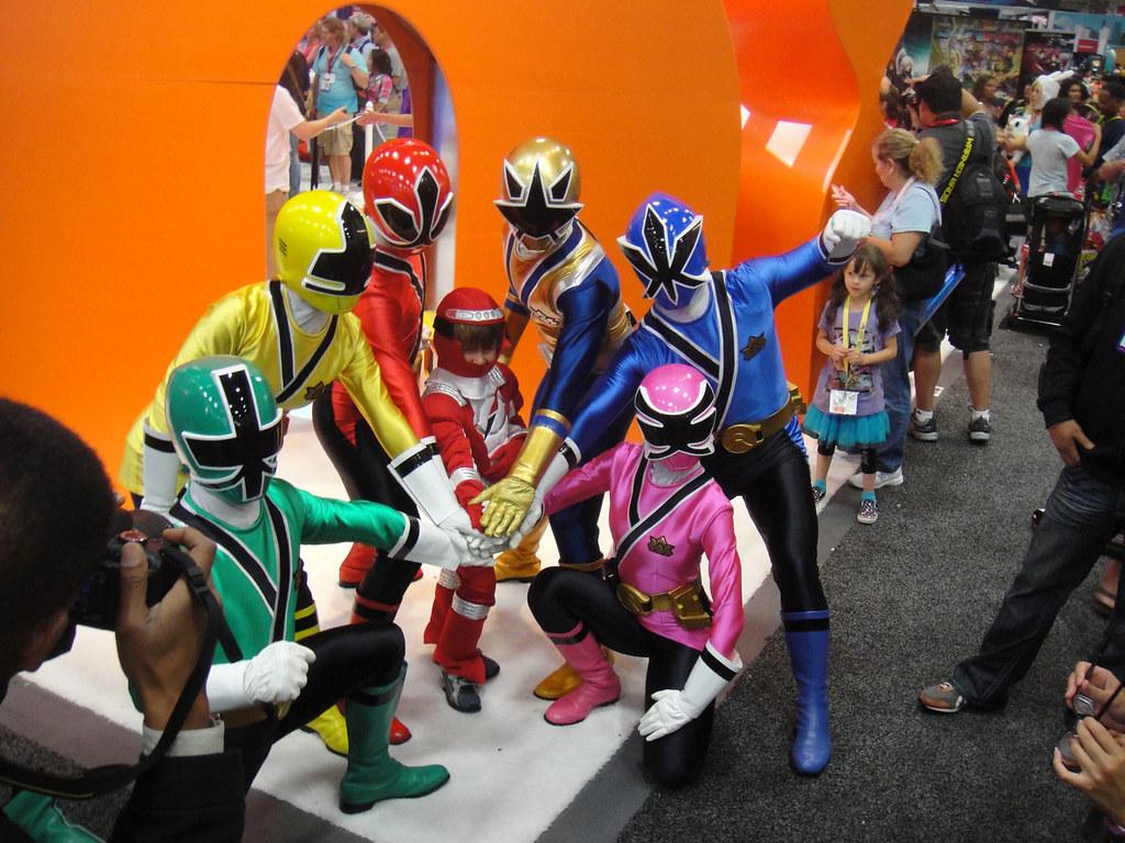 Power Ranger Samurai Cake Toppers