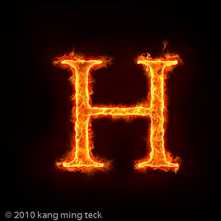 H Letter In Fire Hd fire H | Alphabets on ...