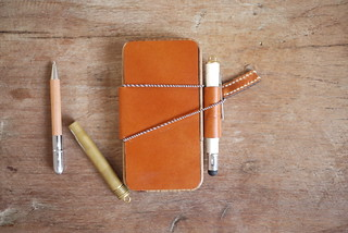 Wood + Leather + pen holder: iPhone case DIY | by Patrick Ng