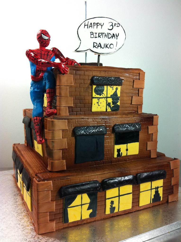 Spiderman Building Cake
