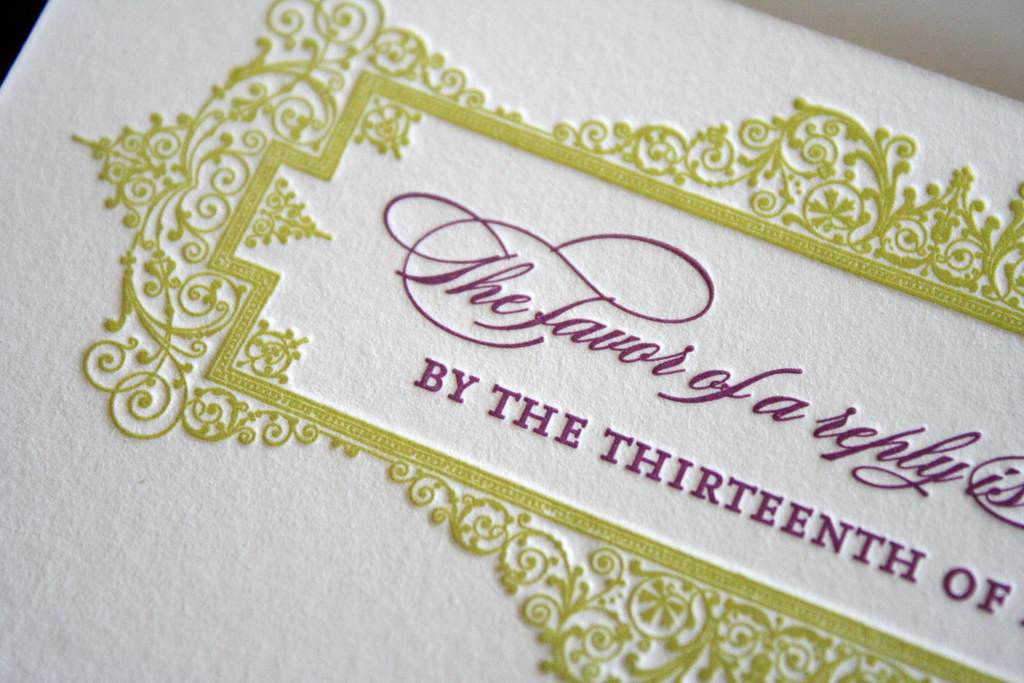 Classic + Elegant Letterpress Wedding Invitations | things a… | Flickr