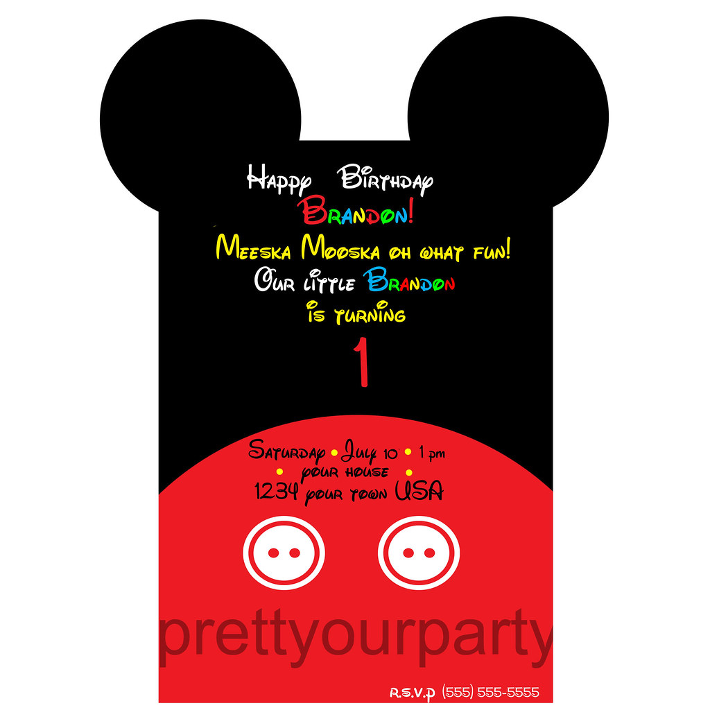 mickey mouse invitation cute mickey invitation available w Flickr