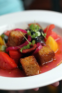 cherry tomato salad croutons | by David Lebovitz