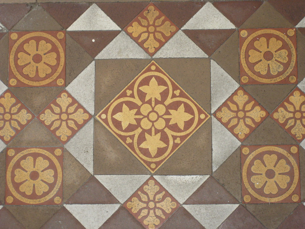 Ornately patterned victorian porch tiles of yooralbyn a for Edwardian tiles for porch