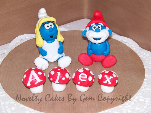Smurfs cake topper Come find me on my Facebook Page www ...