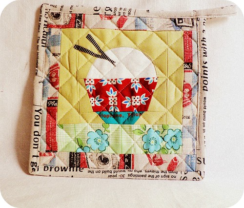 Rice Bowl Potholder. | by {Leila} Where Orchids Grow