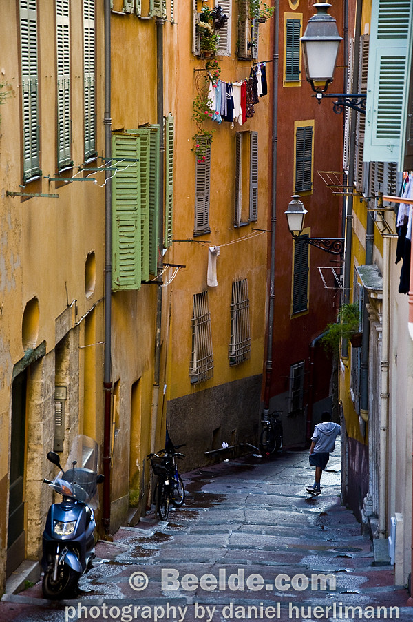 old town nice france a charming colorful quaint alley i flickr. Black Bedroom Furniture Sets. Home Design Ideas