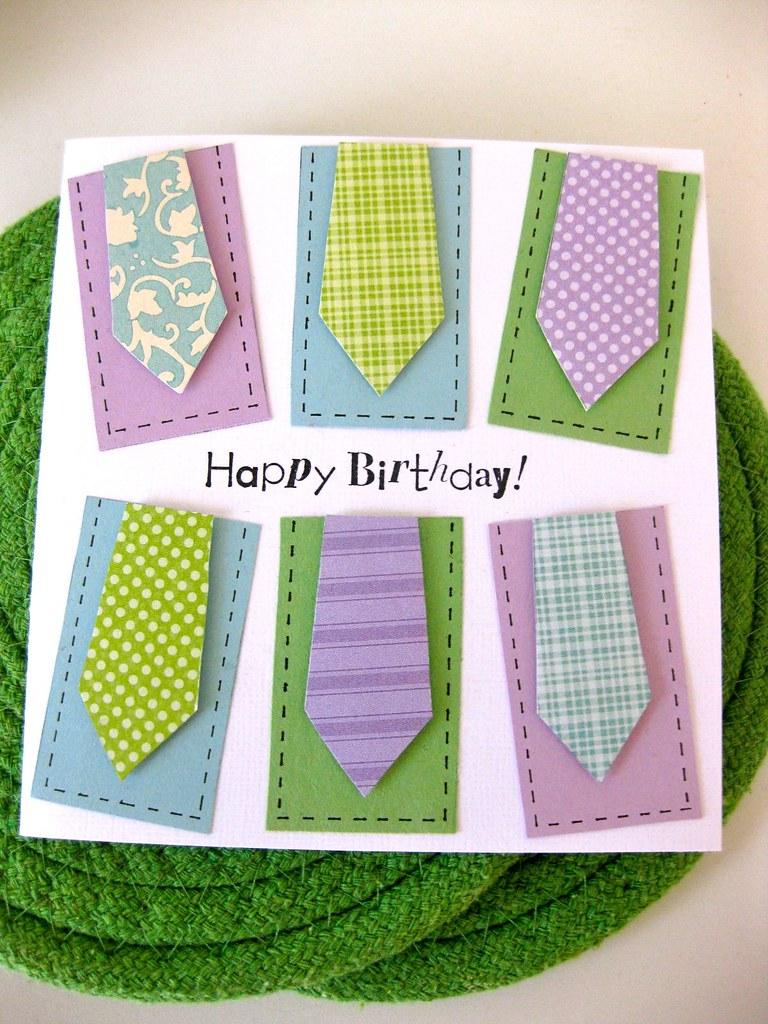 Men Neckties Birthday Card