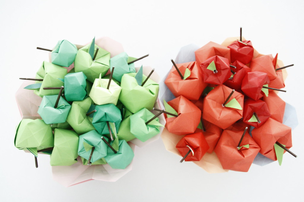 origami apple tree apples many apples folded in