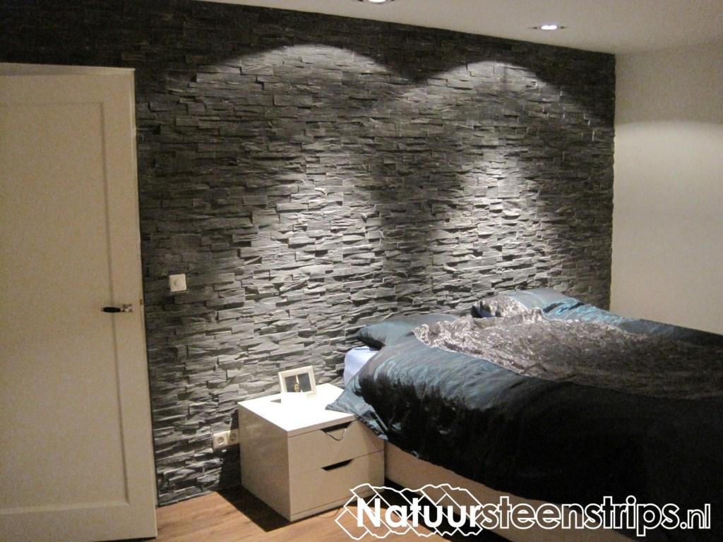 Achterwand Voor Slaapkamer : Natuursteenstrips grijs kwartsiet slaapkamer grijs kwartsiu flickr
