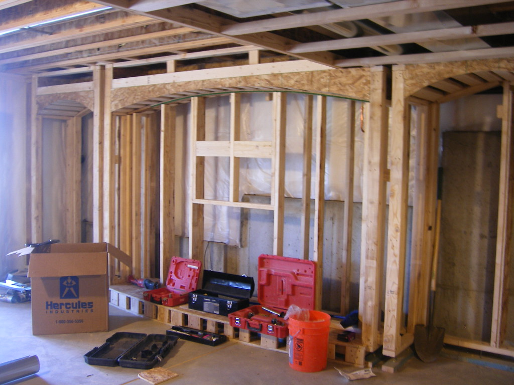 fireplace and tv wall framing basement finish aurora col u2026 flickr