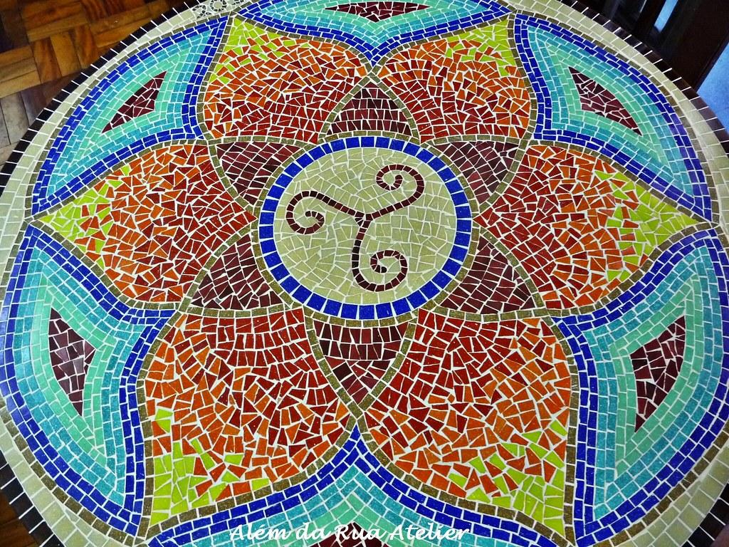 Mandala em mosaico piso em mosaico esta mandala mede for Mosaico para piso