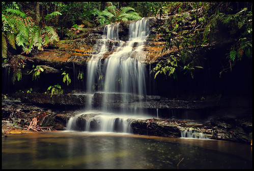Waterfall at Hazelbrook | by kc_y0 (Away for a while)