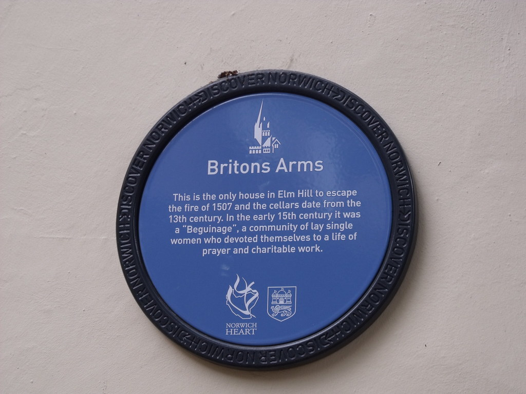 Discover Norwich Blue Plaque Of The Briton Arms The