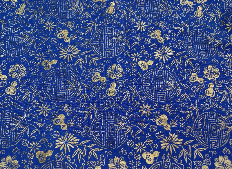 Gold and Blue Asian Pattern Fabric | Gold and blue asian pat… | Flickr