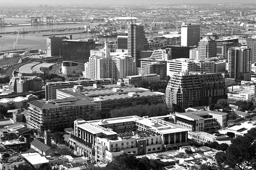 Cape Town CBD & Table Bay in b&w | by WITHIN the FRAME Photography(5 Million views tha