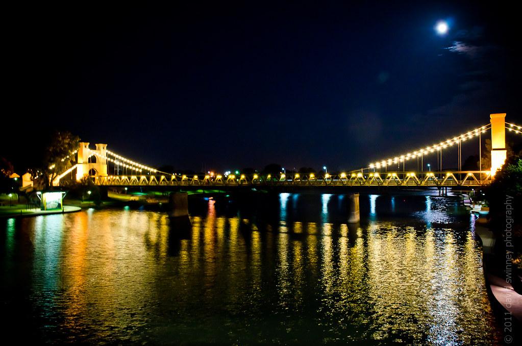 201 365 Waco Suspension Bridge At Night July 20 2011