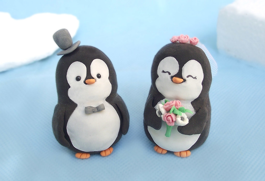 penguin cake toppers wedding lovely penguins wedding cake toppers unique and 6441