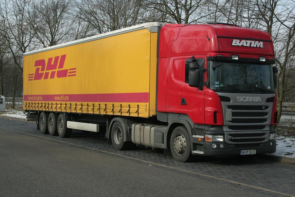 scania r440 dhl trailer wgm sk 47 spedition batim pl flickr. Black Bedroom Furniture Sets. Home Design Ideas