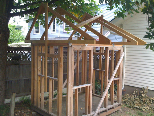 Playhouse Roof Trusses Put Up I Put These Up A Couple